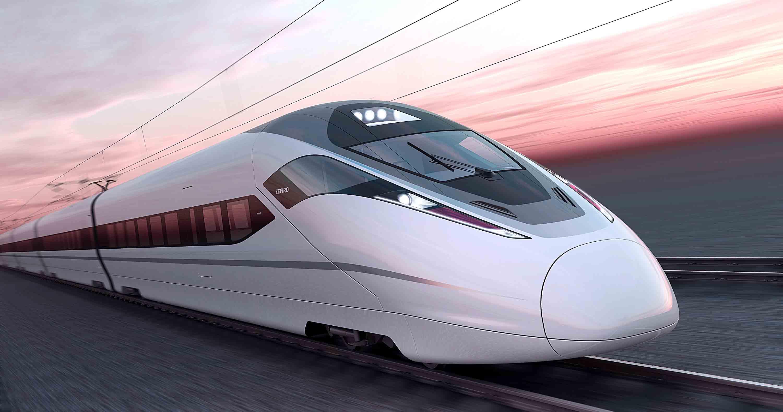 treno maglev tramonto
