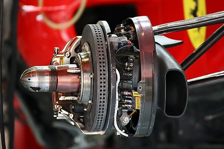 Impianto frenante della Ferrari da Formula 1