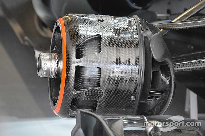 Cestelli freni della McLaren nel 2016 nel Gran Premio di Russia