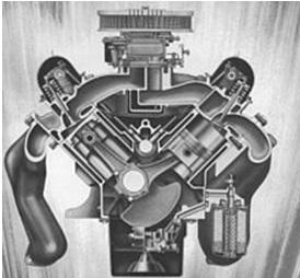 Configurazione di un motore a combustione interna, configurazione a V
