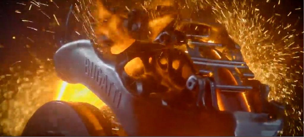 Pinza freno in titanio della Bugatti