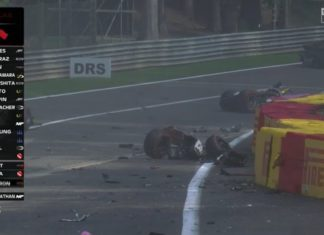 Incidente terribile in F2 all'Eau Rouge durante il Gran Premio. Piloti trasportati in ambulanza