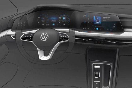 Volkswagen Golf 8: gli interni