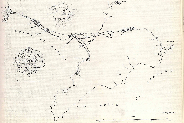Inaugurazione della prima linea ferroviaria italiana