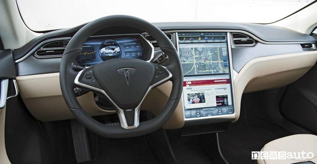 Interni della Tesla Model S