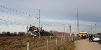 Treno deragliato a Lodi