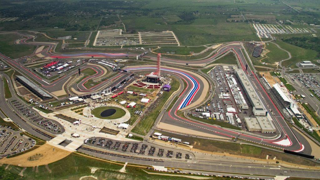 Il circuito di Austin, sede del GP degli USA di MotoGP e Formula 1