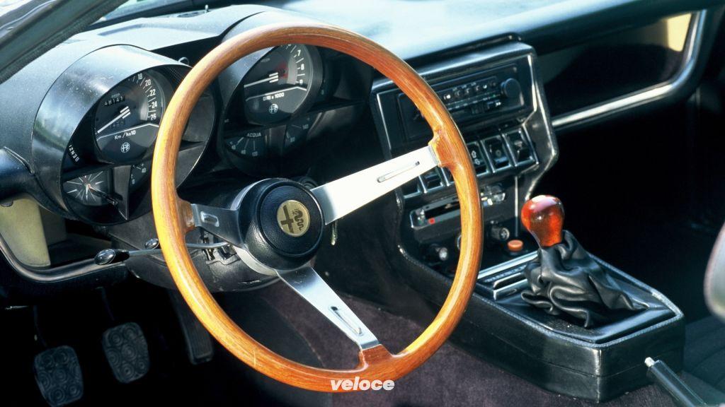 Gli interni dell'Alfa Romeo Montreal