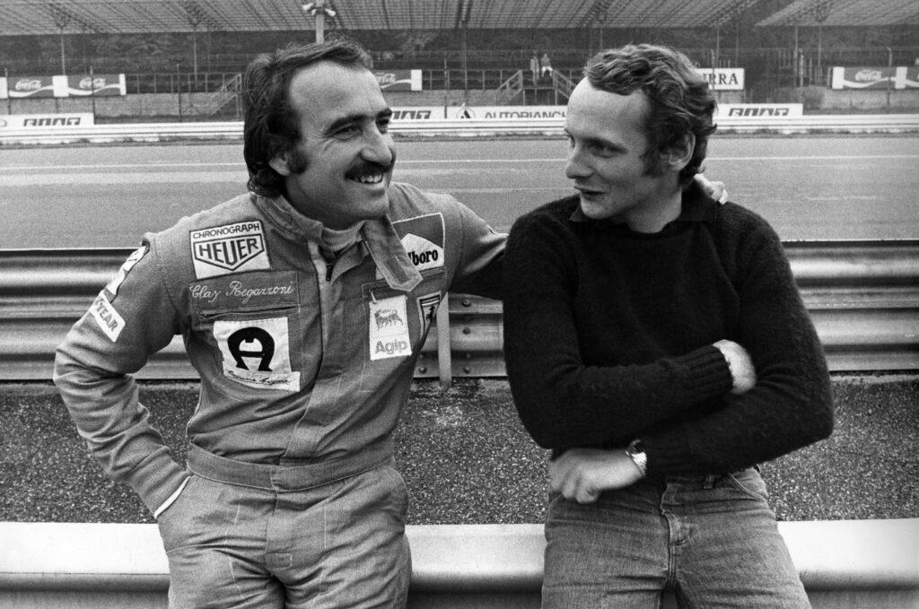 Clay Regazzoni assieme a Niki Lauda
