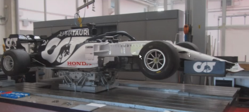 Test Center Of Gravity su una monoposto da F1