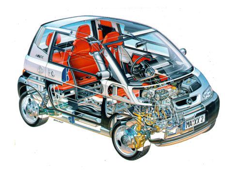 Il primo motore 3 cilindri d'Europa compie 25 anni con la Opel MAXX