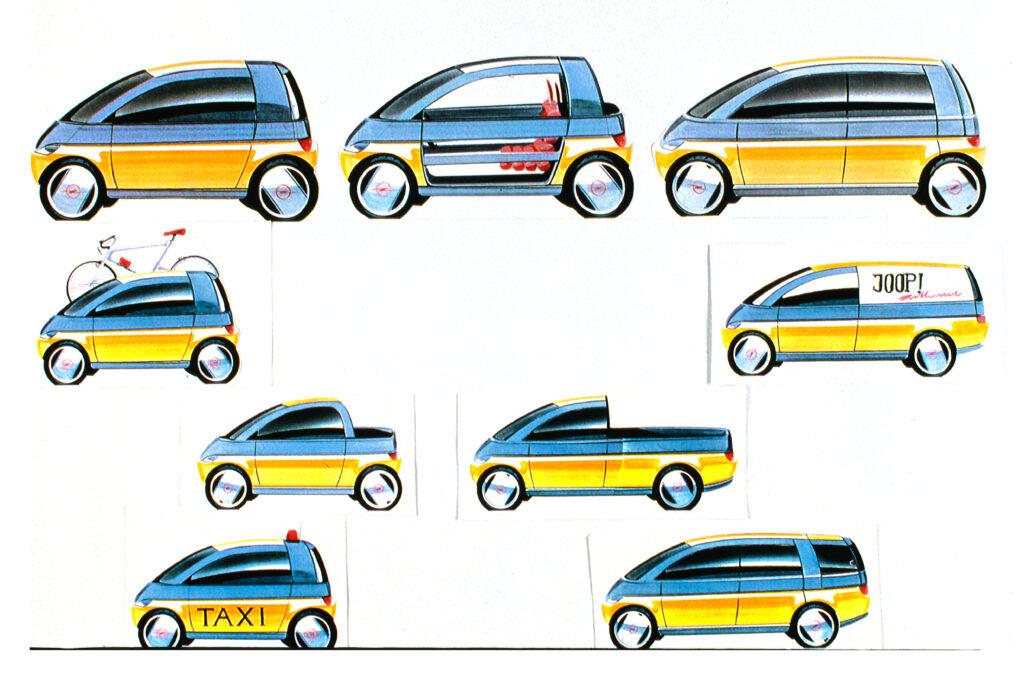 Il concetto di modularità della Opel MAXX