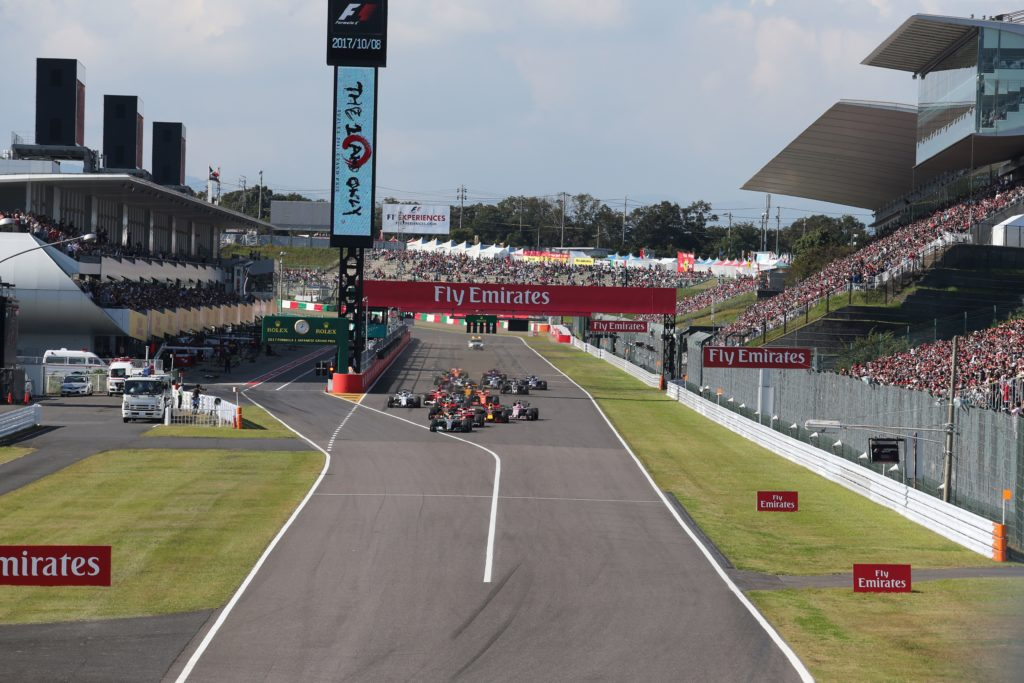 Lo start del GP del Giappone 2017
