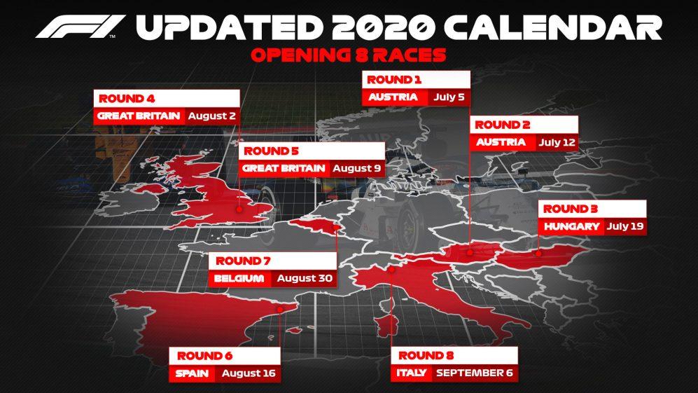 Calendario di Formula 1 2020