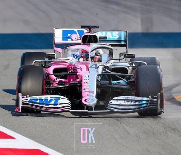 La somiglianza tra la Racing Point 2020 e la Mercedes 2019