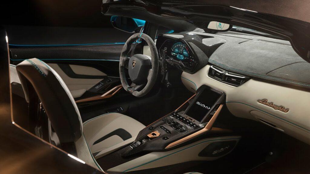 Lamborghini Sian Roadster, interni