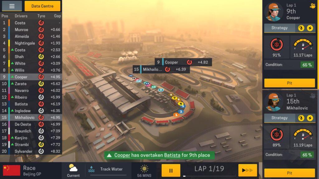 Motorsport Manager 2 con vetture di Formula 1