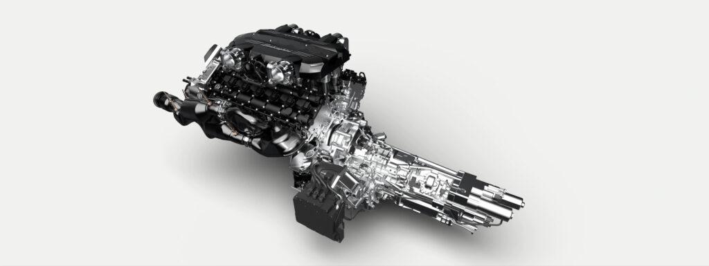 Il powertrain della Lamborghini Sian V12 Roadster