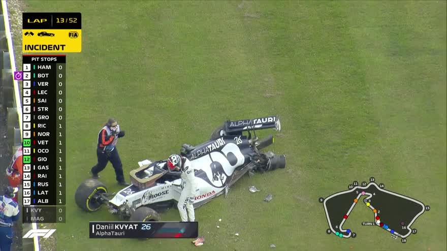 L'incidente di Daniil Kvyat durante il GP di Gran Bretagna