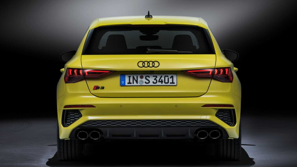 Nuova Audi S3 Sportback, vista posteriore