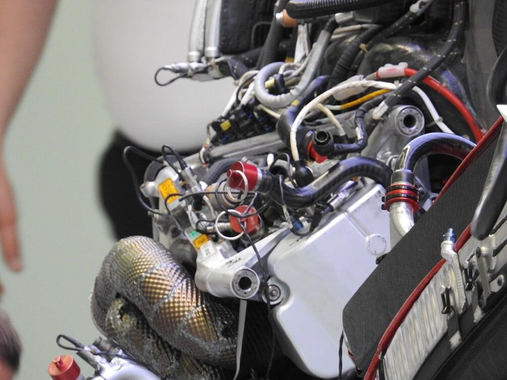 Le tubazioni della monoposto di F1