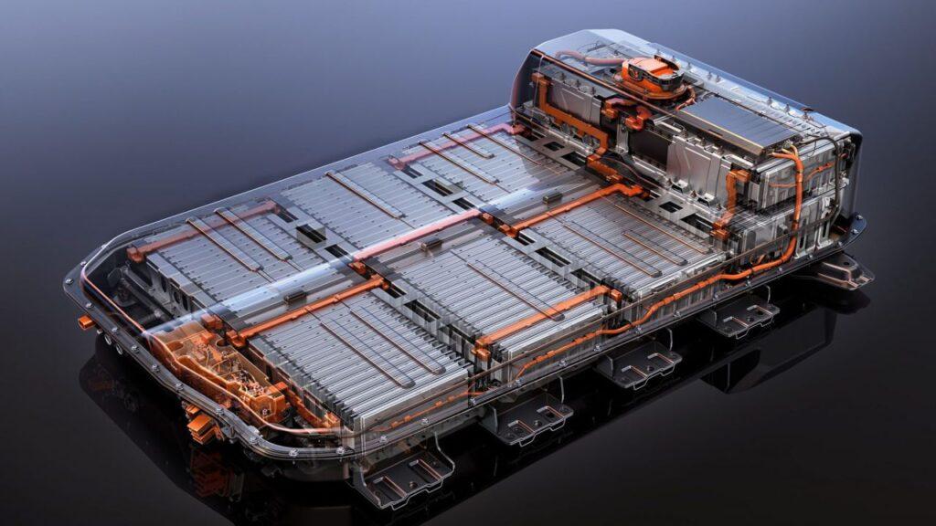 Il pacco batterie di un'auto elettrica