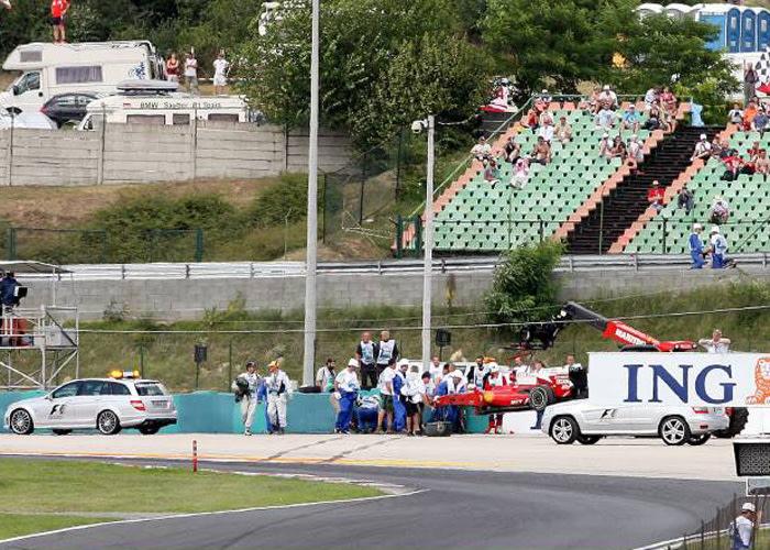L'incidente di Felipe Massa nel GP d'Ungheria del 2009.