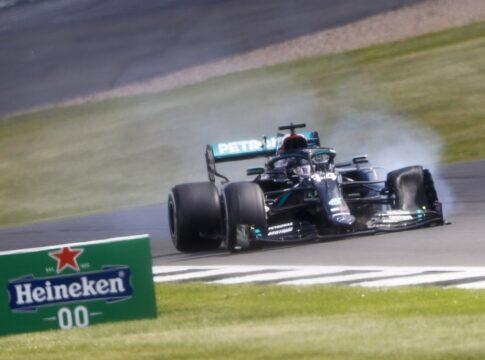 Hamilton in F1 su tre ruote più veloce di una Huracan GT3. Toccati i 230 km/h di velocità con una ruota forata