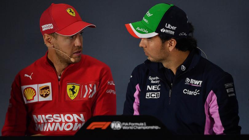 Sebastian Vettel, futuro pilota Aston Martin, e Sergio Perez