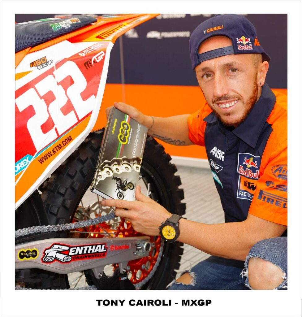 Tony Cairoli, pilota KTM MX equipaggiato Regina Chain Credits: Regina Chain