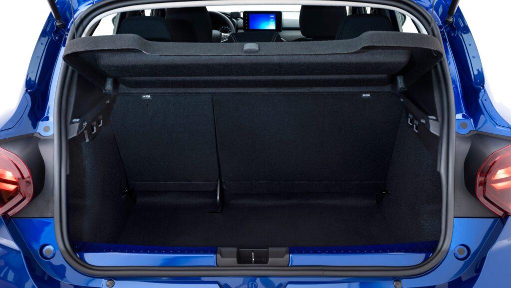 Bagagliaio nuova Dacia Sandero 2021
