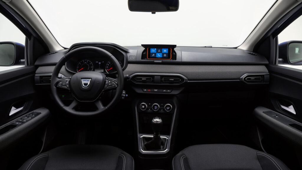 Interni nuova Dacia Sandero 2021