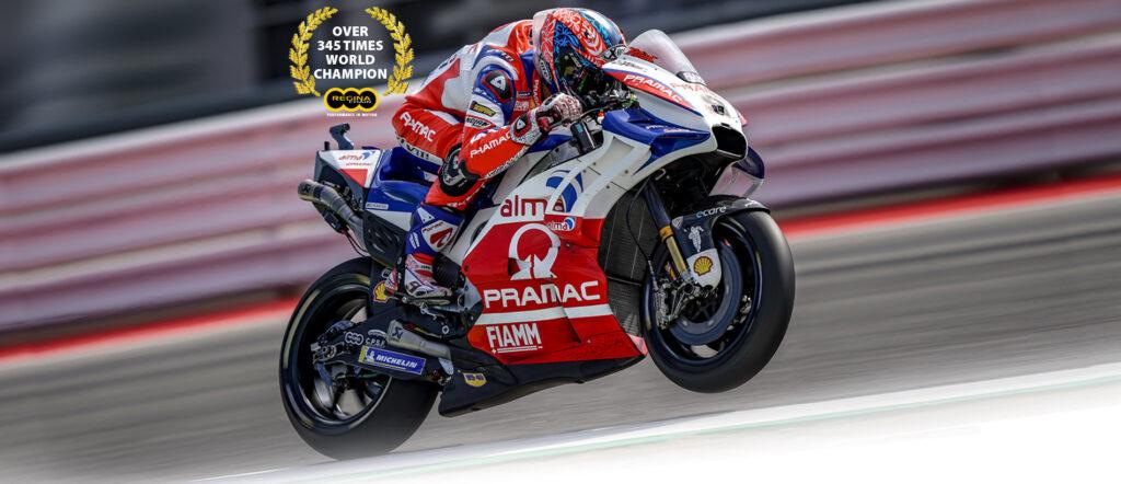 Danilo Petrucci, pilota Ducati Pramac, equipaggiato Regina Chain Credits: Regina Chain