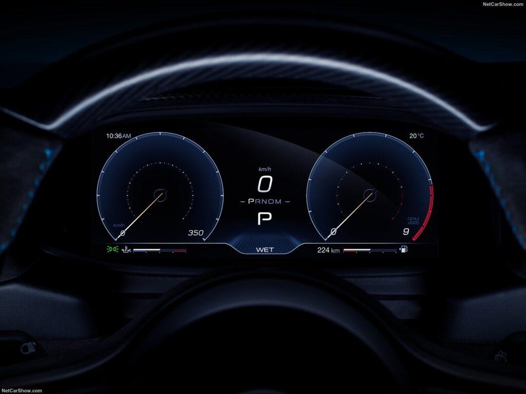 La strumentazione digitale della nuova Maserati