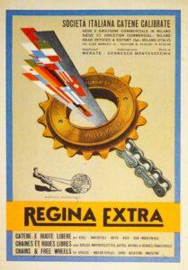 Manifesto storico Regina, il marchio che ha brevettato Regina Z-HPE Credits: Regina Chain