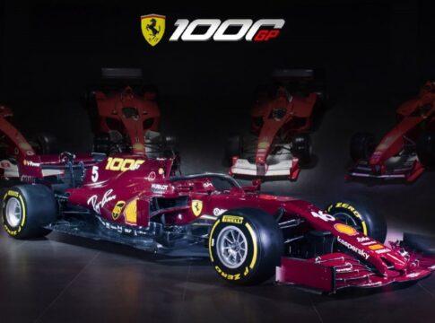 Svelata la livrea celebrativa della Ferrari SF1000 per i mille Gran Premi. Al Mugello sarà un richiamo al passato