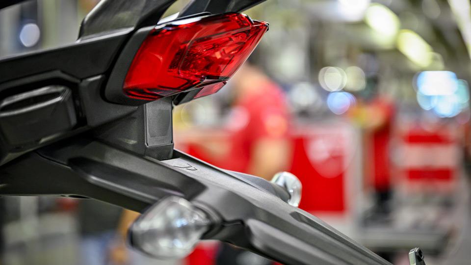 Radar posteriore Ducati Multistrada V4. Credits: Ducati