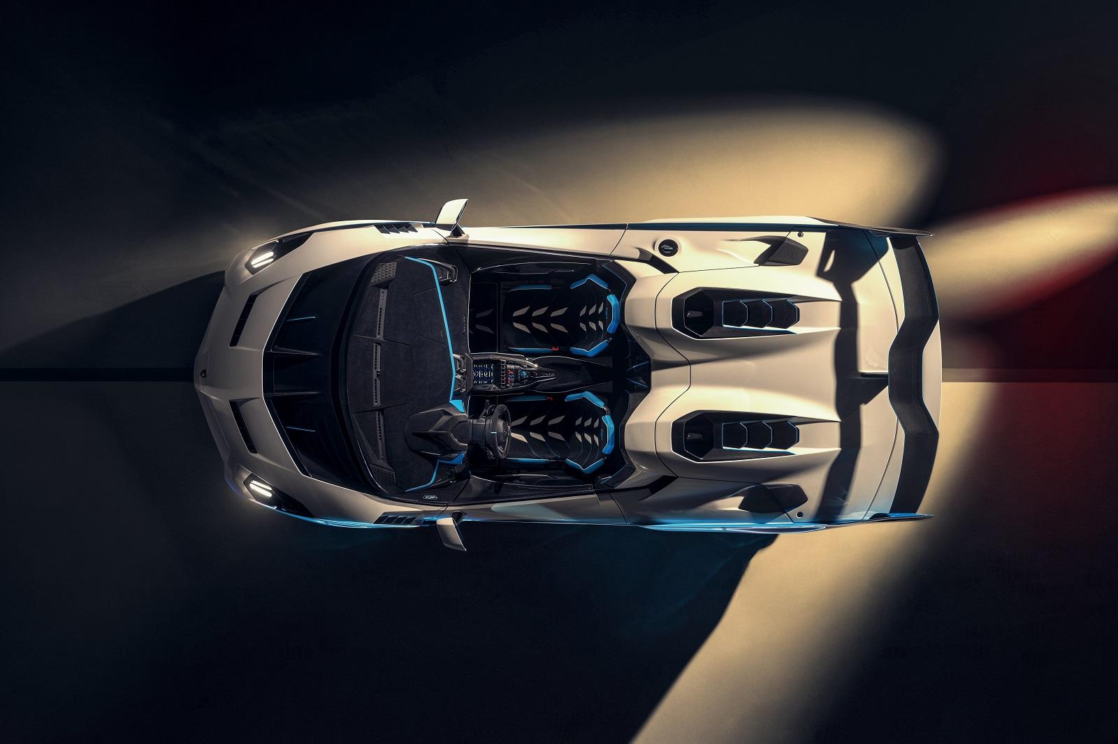 Vista dall'alto della Lamborghini SC20