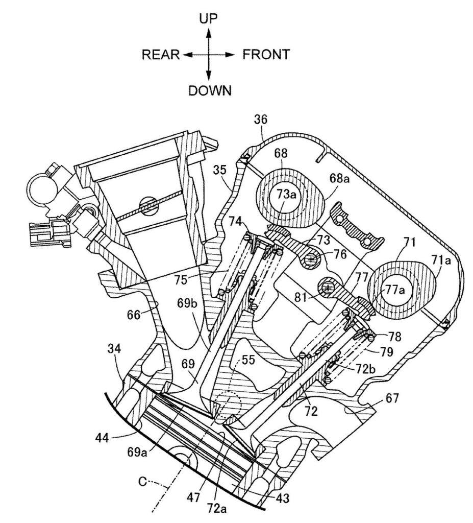 Brevetto Honda per SuperBike Ufficio brevetti giapponese