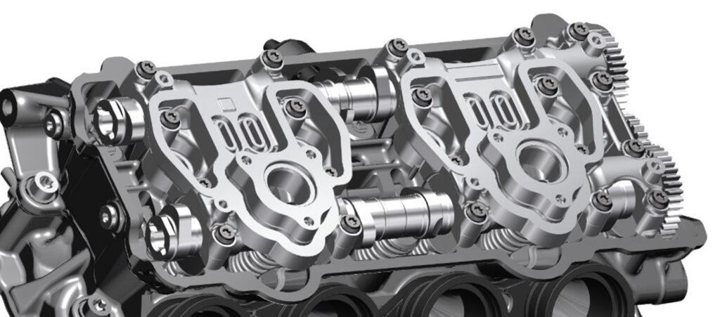 La testata del motore della nuova BMW S 1000 R 2021