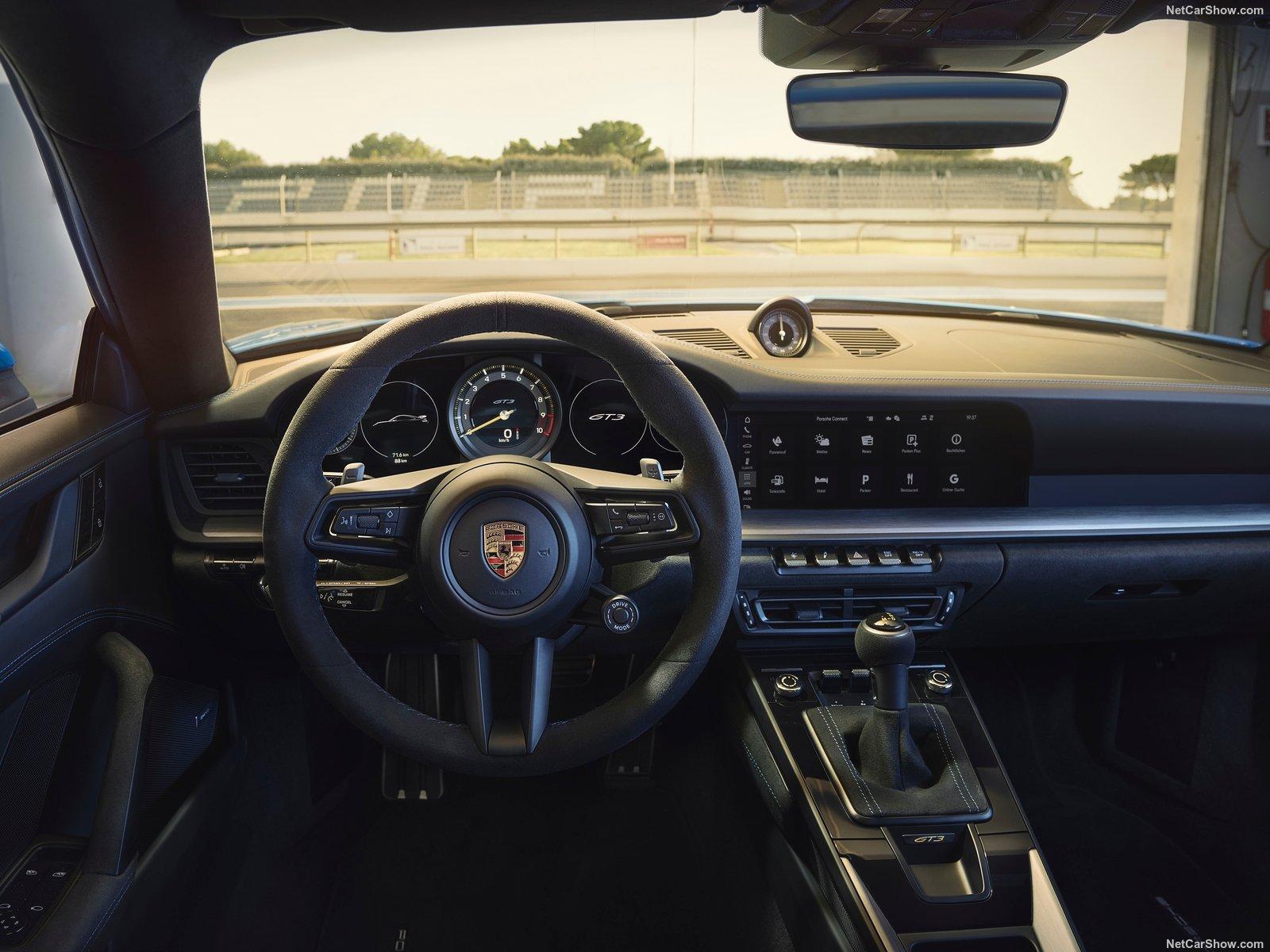Gli interni della nuova 911 GT3