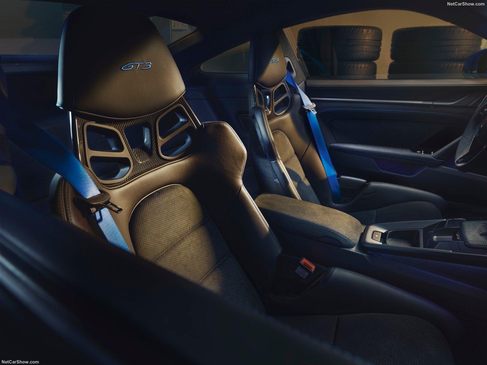 I sedili anteriori della nuova Porsche 911 GT3