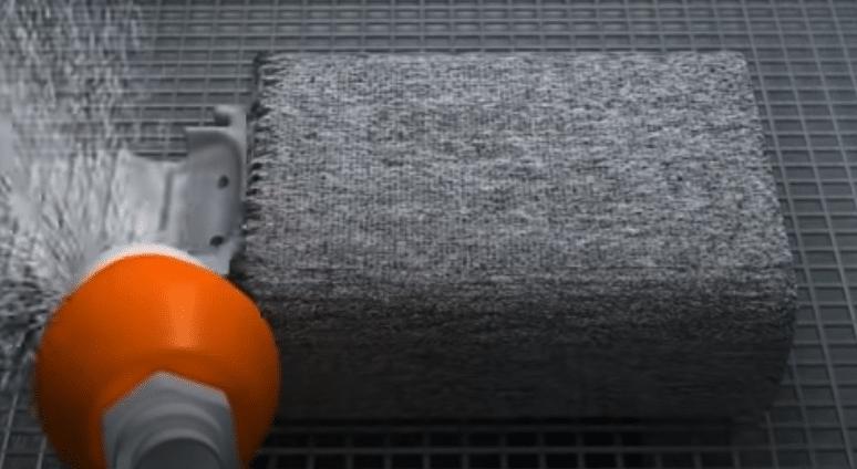 Rimozione polvere sinterizzata