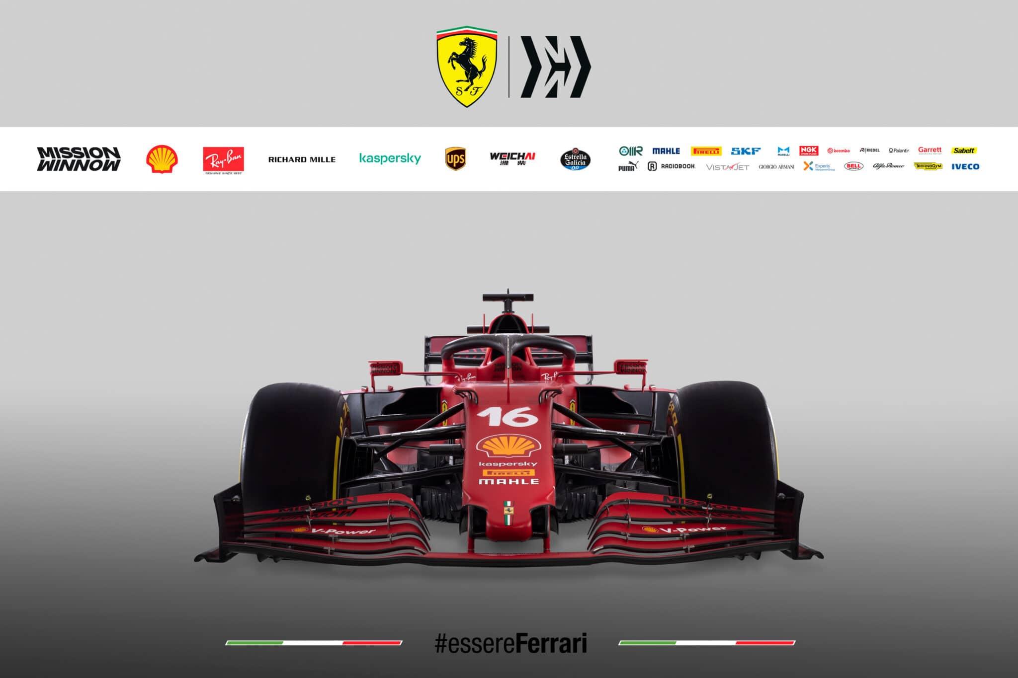 Il frontale della Ferrari SF21