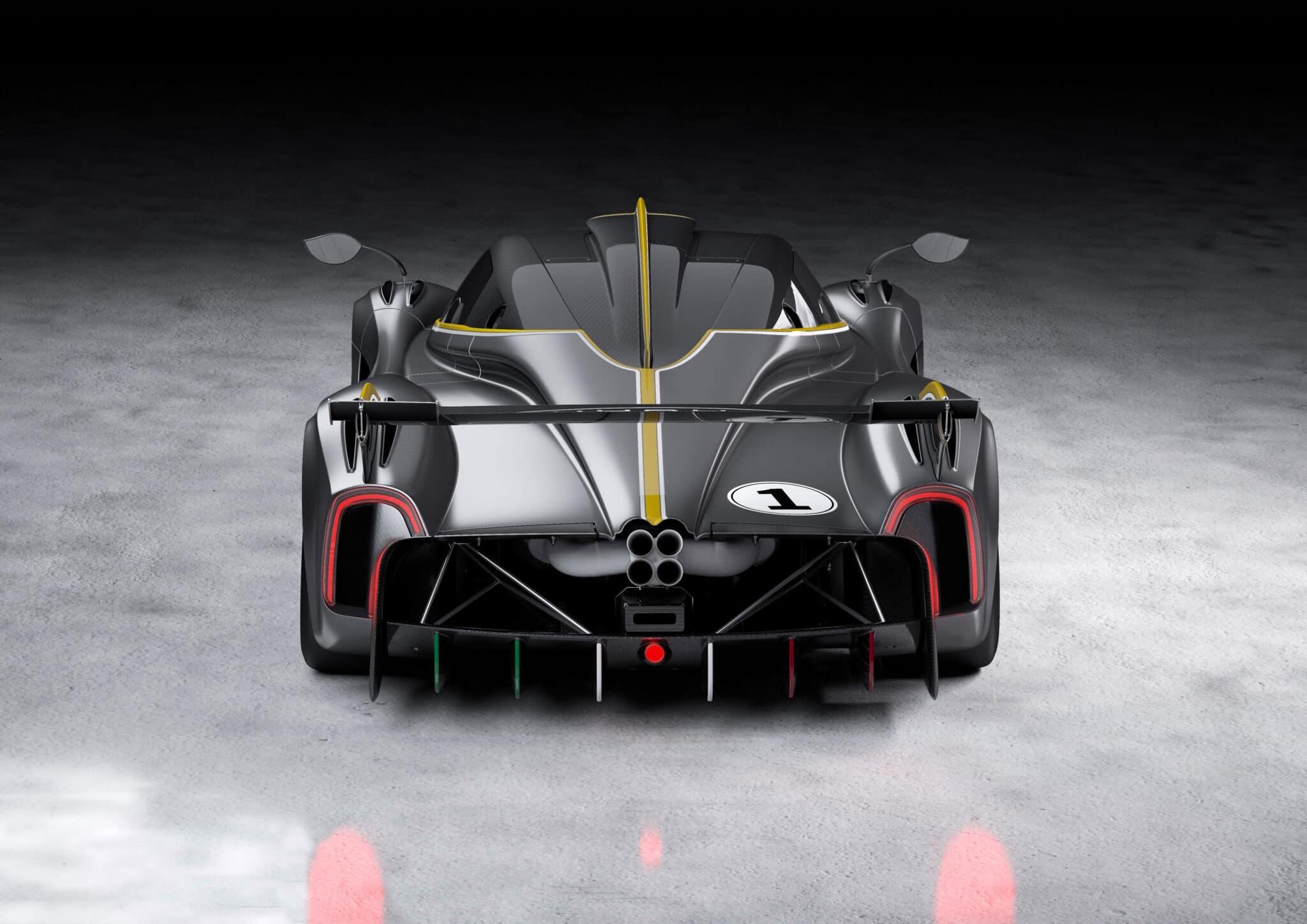 Il posteriore della nuova Huayra R
