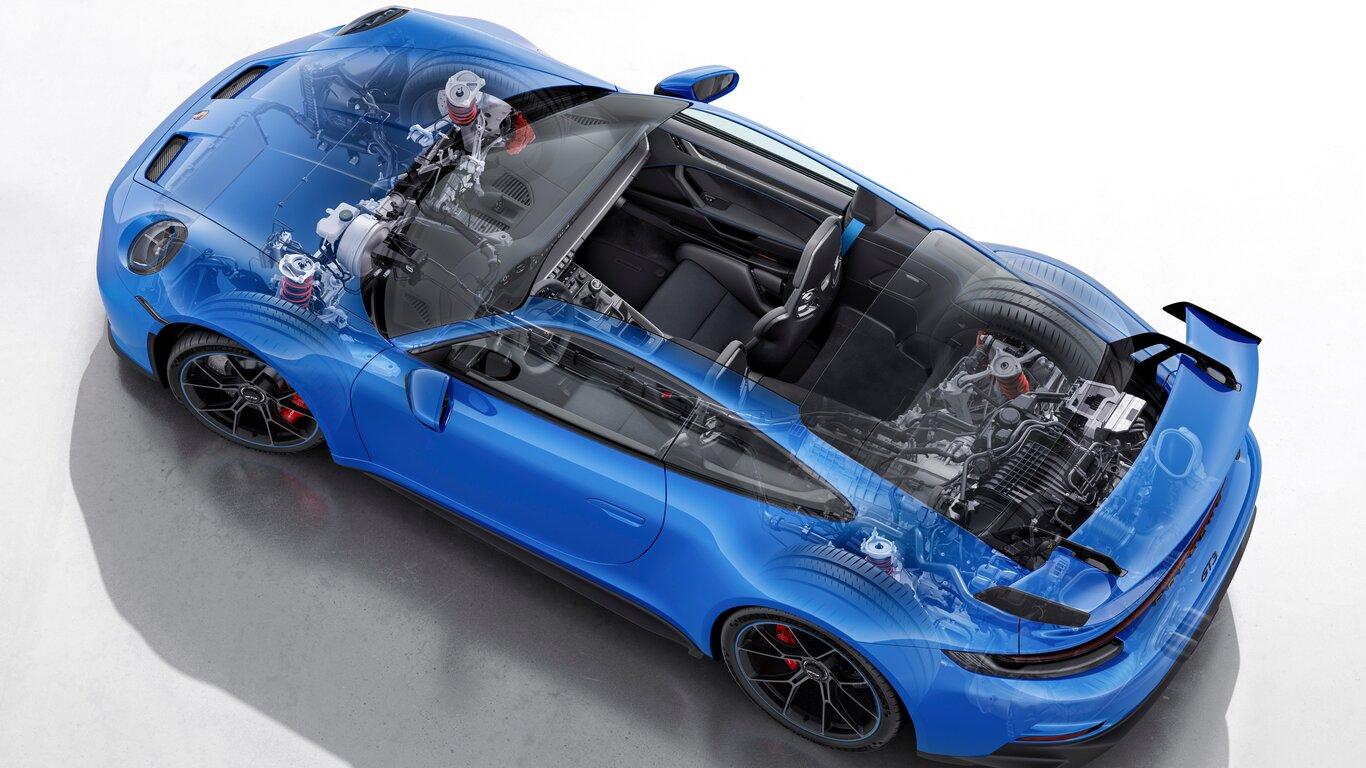 Porsche 911 GT3 motore tecnica