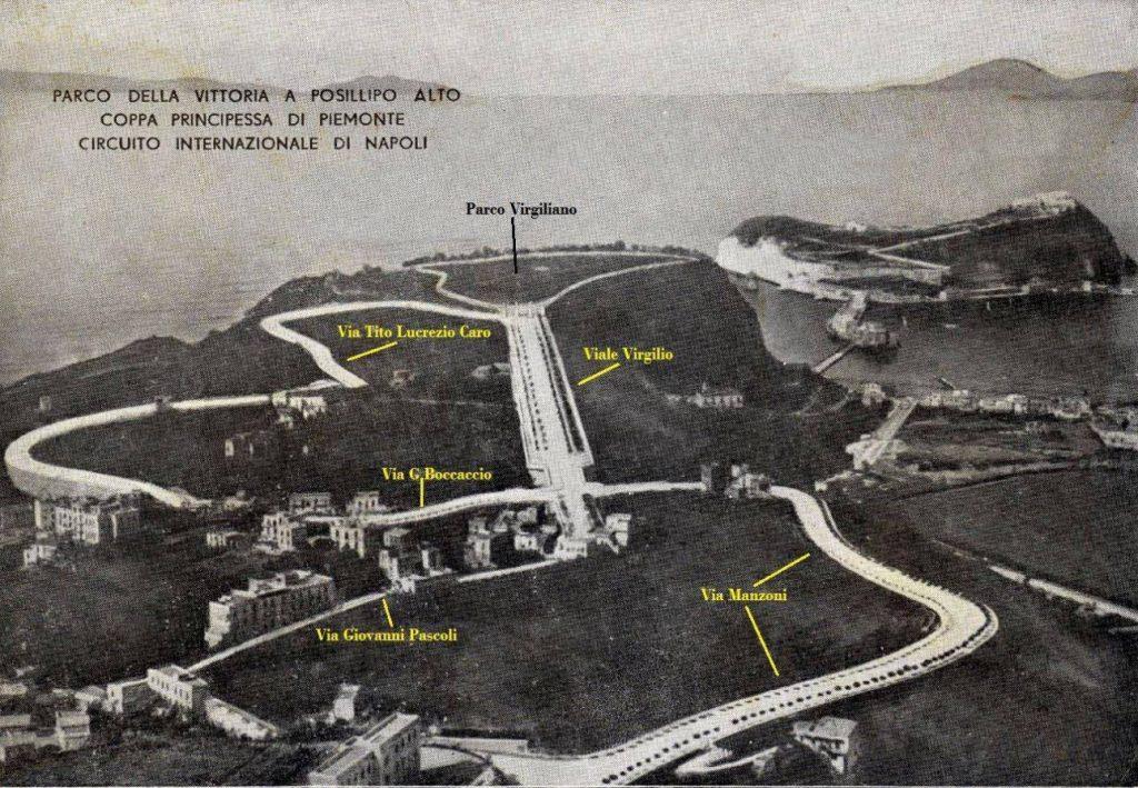 Il circuito del Gran Premio di Napoli che si snoda tra le stradine di Posillipo