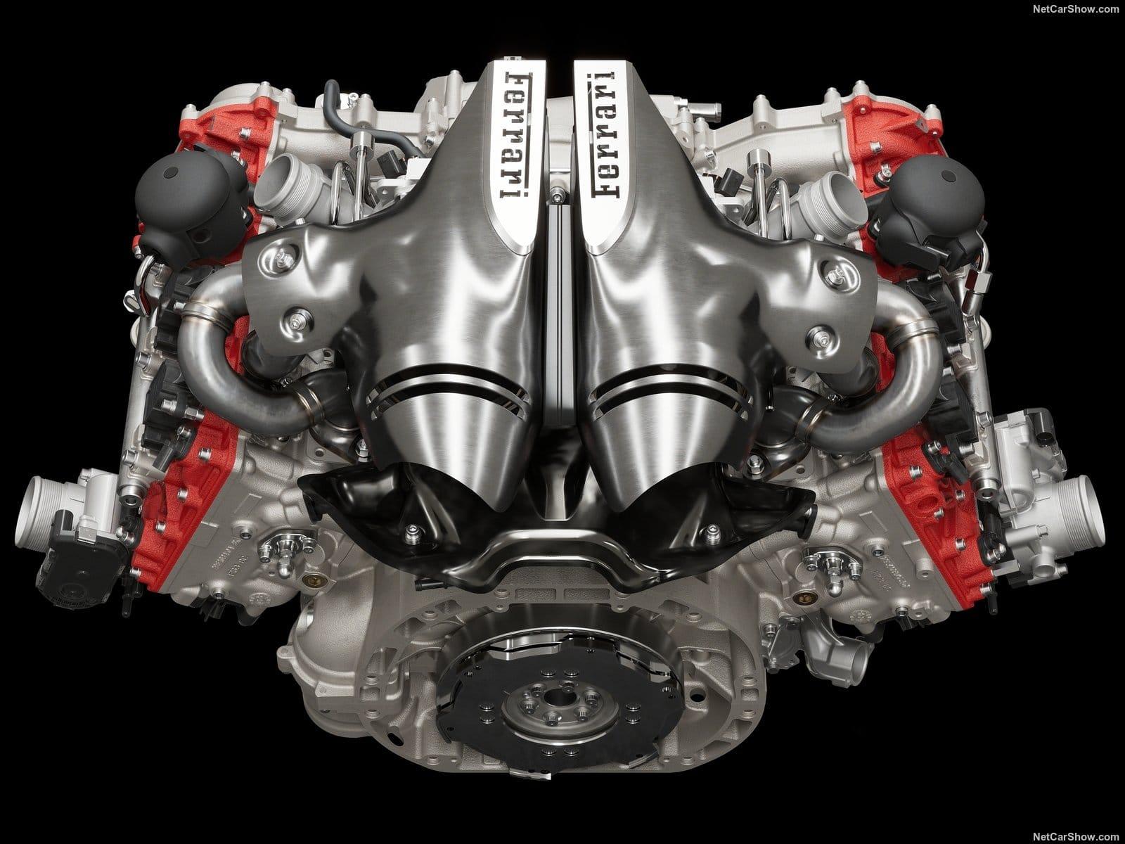 Il motore della Ferrari 296 GTB