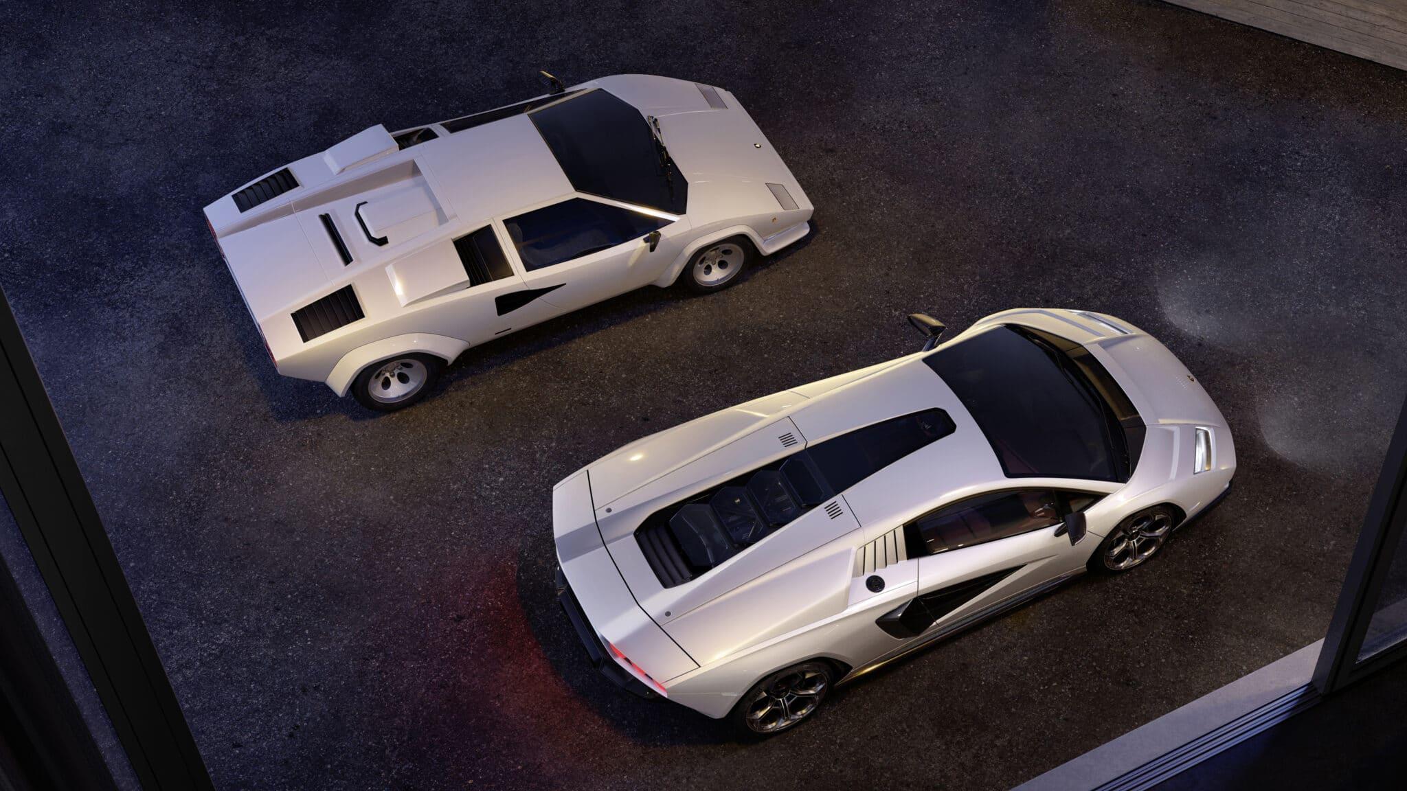 Confronto tra Lamborghini Countach - Crediti foto: ufficio stampa Lamborghini