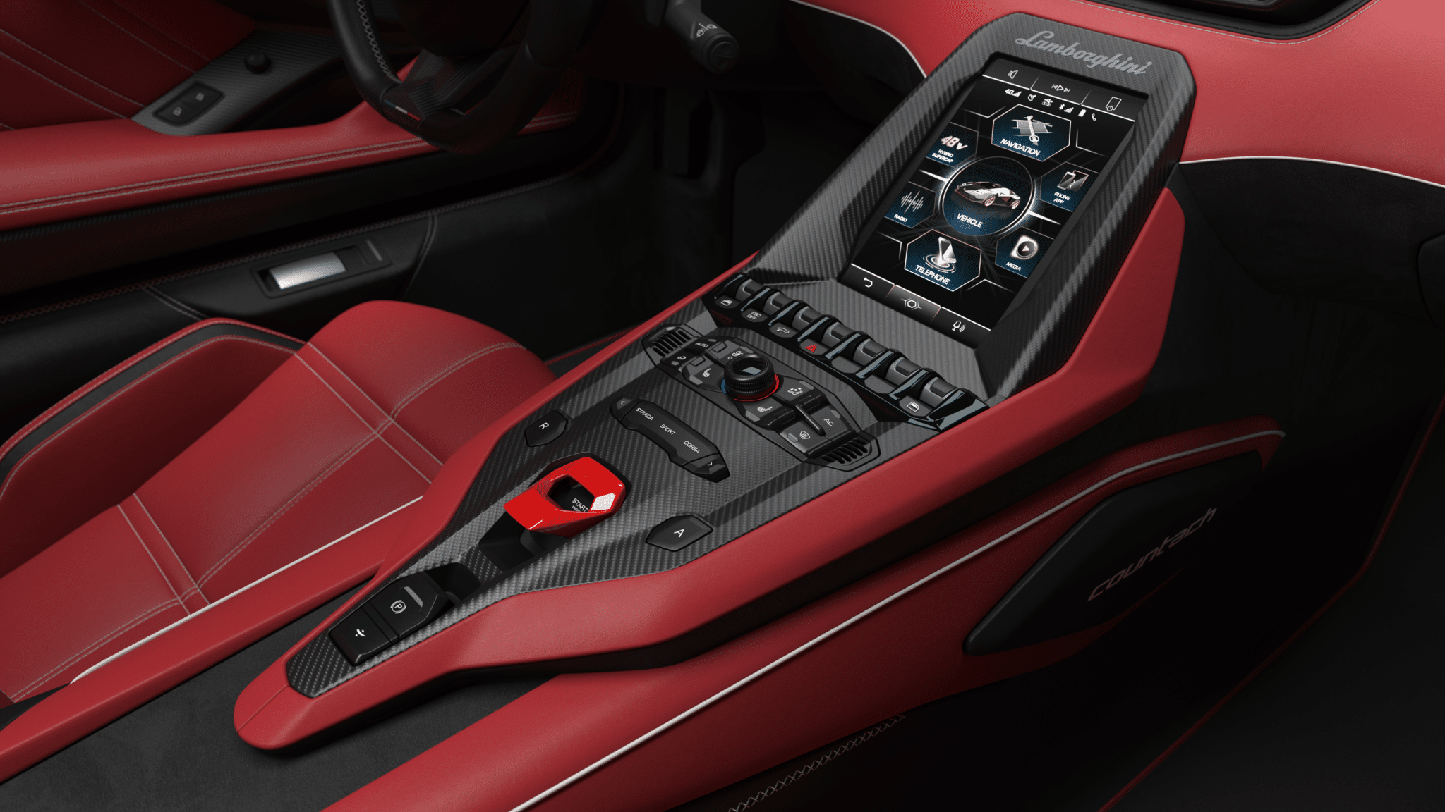 Gli interni della Lamborghini Countach - Crediti foto: ufficio stampa Lamborghini